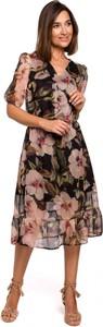 Sukienka Stylove z dekoltem w kształcie litery v rozkloszowana w stylu casual