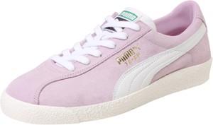 Różowe trampki Puma na platformie