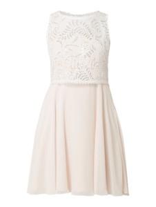 Sukienka V.m. z szyfonu mini z okrągłym dekoltem