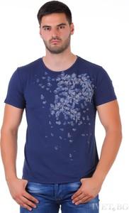 Granatowy t-shirt Ivet.pl