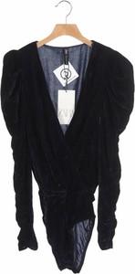 Bluzka ZARA z dekoltem w kształcie litery v z długim rękawem