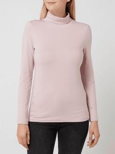 Różowa bluzka Christian Berg Women z długim rękawem w stylu casual