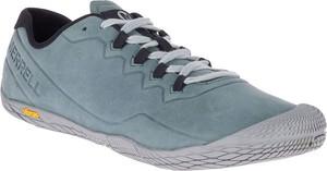 Niebieskie buty sportowe Merrell ze skóry sznurowane
