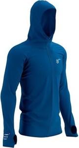 Niebieska bluza Compressport w sportowym stylu