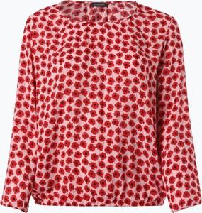 Czerwona bluzka Samoon z długim rękawem