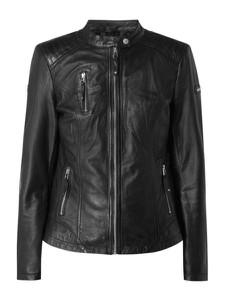 Czarna kurtka Cabrini w rockowym stylu ze skóry