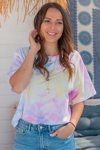 T-shirt Chiara Poland z krótkim rękawem z bawełny z okrągłym dekoltem