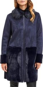 Granatowy płaszcz Vila w stylu casual