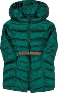 Zielony płaszcz dziecięcy Mayoral dla dziewczynek