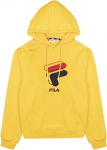 Żółta bluza Fila w młodzieżowym stylu z bawełny