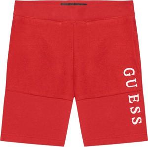 Czerwone spodenki dziecięce Guess