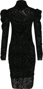 Sukienka Silvian Heach mini dopasowana z długim rękawem
