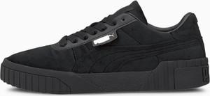 Czarne buty sportowe Puma sznurowane cali z płaską podeszwą