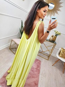 Żółta sukienka Magneticsklep maxi