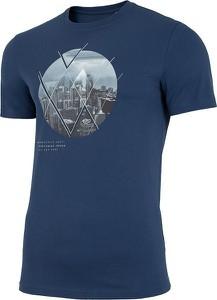 T-shirt 4F z bawełny w sportowym stylu z krótkim rękawem