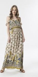 Sukienka born2be maxi z okrągłym dekoltem