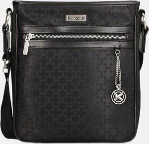 Czarna torebka Kazar w stylu glamour z tkaniny