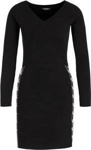 Czarna sukienka Twinset mini z długim rękawem