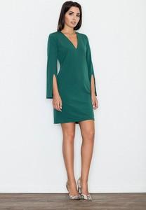 Zielona sukienka Figl z dekoltem w kształcie litery v