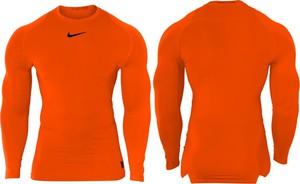 Pomarańczowa koszulka z długim rękawem Nike