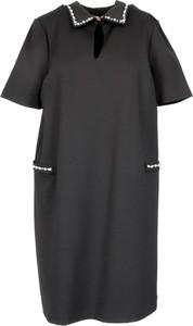 Czarna sukienka Twinset z krótkim rękawem