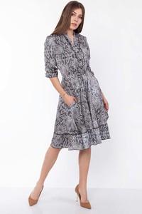 Sukienka Lanti w stylu casual midi koszulowa