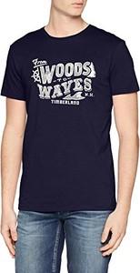 Granatowy t-shirt Timberland z krótkim rękawem