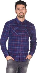 Granatowa koszula Pepe Jeans z klasycznym kołnierzykiem z długim rękawem