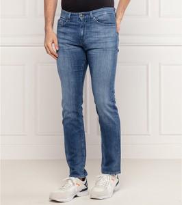Niebieskie jeansy Hugo Boss z jeansu w street stylu