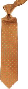 Pomarańczowy krawat Ermenegildo Zegna