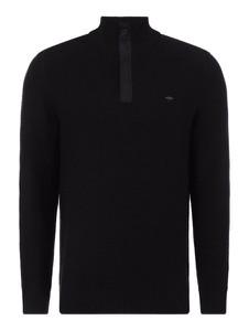 Czarny sweter Fynch Hatton w stylu casual z bawełny