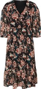 Sukienka Vero Moda z dekoltem w kształcie litery v z długim rękawem kopertowa