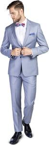 Niebieski garnitur Giacomo Conti z wełny