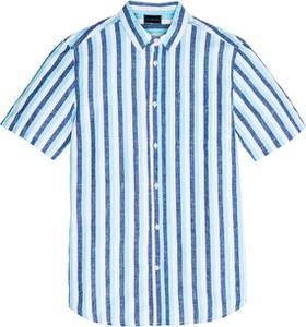 Niebieska koszula bonprix bpc selection z bawełny