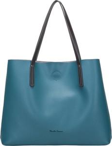 Niebieska torebka Claudia Canova duża na ramię