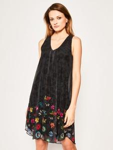 Sukienka Desigual z dekoltem w kształcie litery v w stylu casual bez rękawów