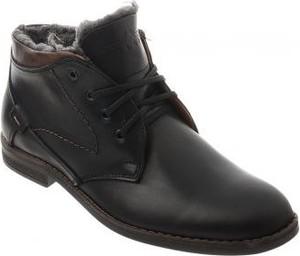 Czarne buty zimowe butyolivier.pl sznurowane