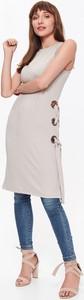 Sukienka Top Secret bez rękawów w stylu casual z okrągłym dekoltem