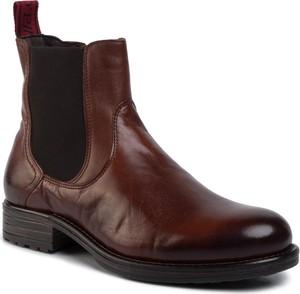 Czerwone buty zimowe Marc O'Polo