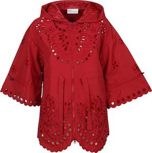 Czerwona kurtka Red Valentino w stylu casual