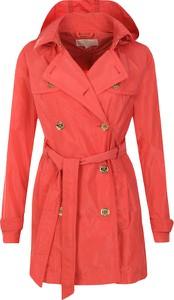 Czerwony płaszcz Michael Kors w stylu casual długa