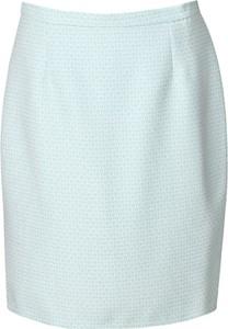 Niebieska spódnica Fokus midi z tkaniny