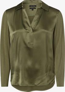 Zielona bluzka Marc O'Polo z dekoltem w kształcie litery v z długim rękawem