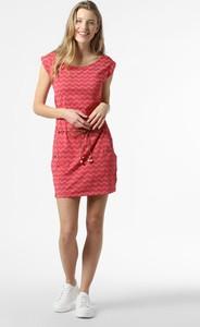 Sukienka Ragwear z dżerseju z okrągłym dekoltem z krótkim rękawem