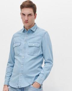 Niebieska koszula Reserved z jeansu w stylu casual