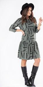 Sukienka Ptakmoda.com trapezowa z długim rękawem mini