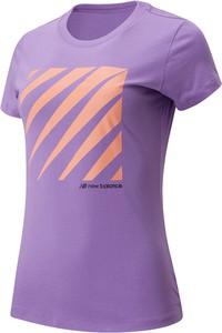 T-shirt New Balance w sportowym stylu z bawełny