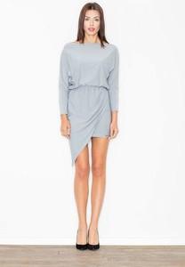 Niebieska sukienka Figl oversize mini