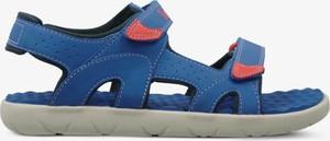 Niebieskie sandały Timberland w sportowym stylu na rzepy