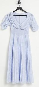 Sukienka Asos z żakardu